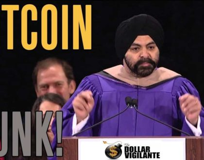"""""""Junk"""": says MasterCard CEO Banga about cryptocurrency"""