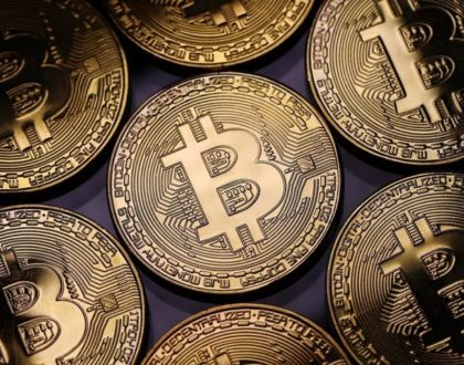 Decline in the prices of virtual currency following the stock market sell-off.