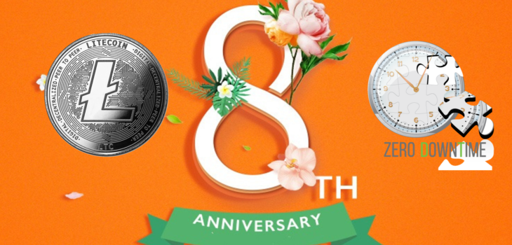 Litecoin Network Celebrated Its 8th Anniversary With Zero Downtime