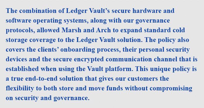 Global Head of Ledger Vault, Demetrios Skalkotos, said
