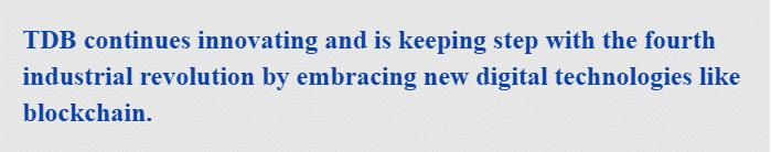 Admassu Tadesse, TDB President, and Chief Executive said