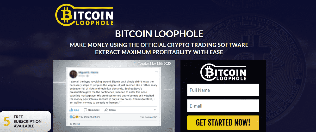 Bitcoin Loophole Review - Overview