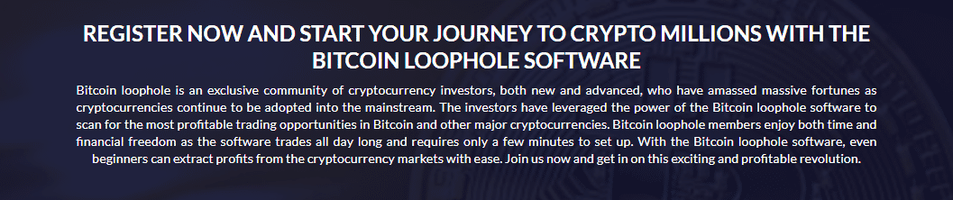 Registration at Bitcoin Loophole